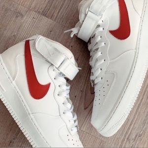 Custom Red Air Force 1 Nike